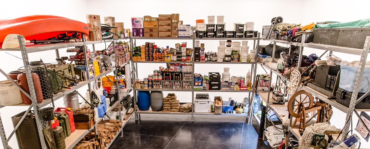 image of food in stock room